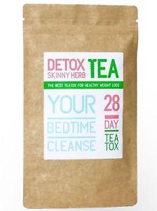 28 Day Bedtime Cleanse Tea: Detox Skinny Herb Tea - Natural