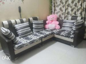 3 piece Sofa set with 6 pillows and washable