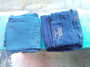 Blue Denim Jeans And Blue Denim Shorts