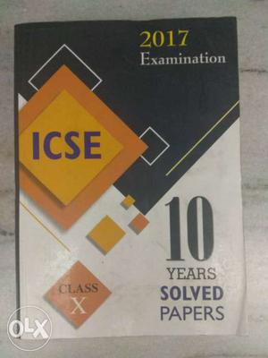Examination ICSE 10 Years Solved Papers Book