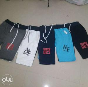 Five Assorted Color Abercrombie & Fitch Drawstring Shorts