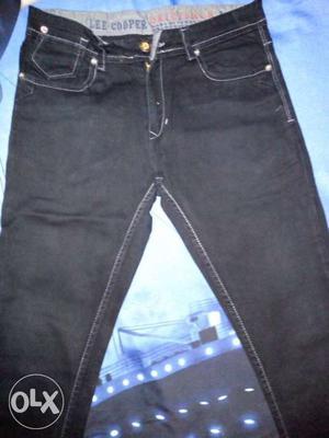 "Waist 32"" Black-washed Jeans"