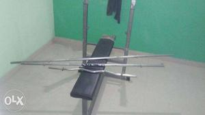 GOOD condition bench. 92 kg weight plates. 2