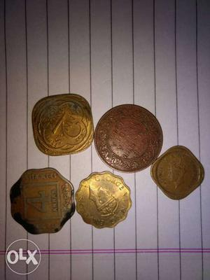 Old coins of india around  george vI king