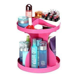 360-degree Spinning Makeup Cosmetic Rotating Desktop Storage