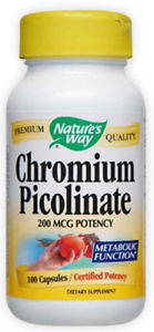 NATURES WAY - Chromium Picolinate - 100 Capsules