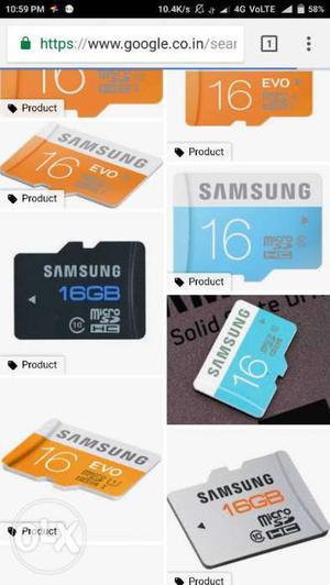 Samsunge 16 gb memory card good condition