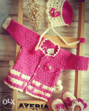 Baby sweater combo set woolen.new set