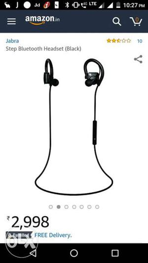 Black Wireless Bluetooth Earphones