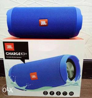 Blue JBL Charge K3+ On Box