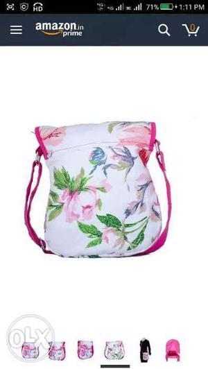 Canvas cute bag for girls.