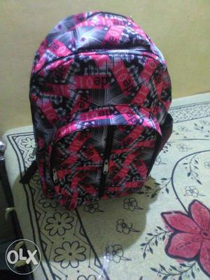 Pink, Black, And Gray Backpack