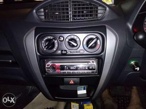 Sony Black And Red Car Stereo with CD FM AND AUX with