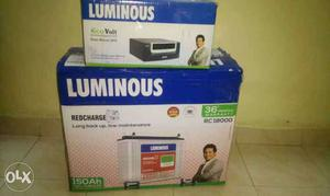 va luminous inverter & 150ah luminous battery