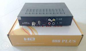 Black HD 888 Plus TV Box With Box