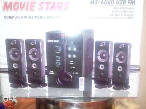Black Movie Stars Computer Media Speaker Box