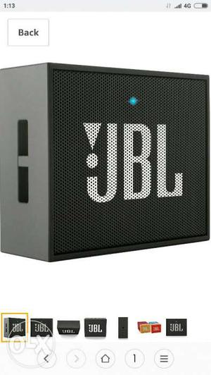 JBL GO Portable Wireless Bluetooth Speaker (Black) Brand New