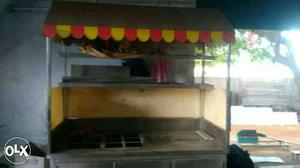 Stainless Steel Chat Food Stall