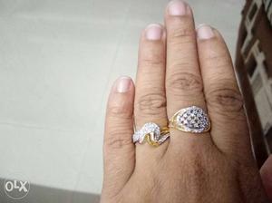 150 per rings.american diamond material