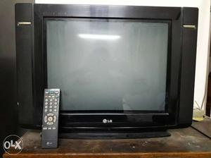 Black LG Widescreen CRT With Remote