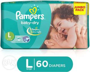 Pampers Baby Diapers - LARGE L (60 pieces pack)
