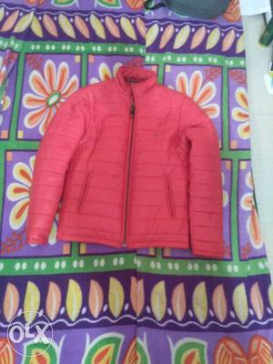 Red Zip-up Bubble Jacket 2 days old Medium size