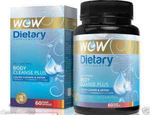 Wow Body Cleanse Plus - 60 Vegetarian Capsules for Weight