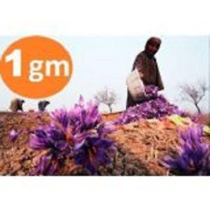Kashmir Pure Saffron kesar 1gm Zafran pure stigma kashmiri