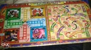Ludo Snakes & Ladders SteelArt Board with dice