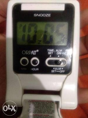 White And Black Orpat Digital Clock
