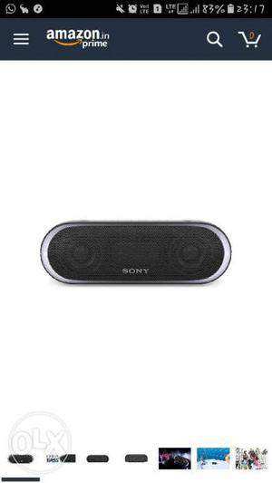 Black And Grey Sony Bluetooth Speaker Xb20