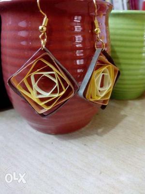 Handmade Paper Quilled Earrings