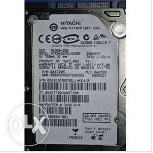 Hitachi 250 GB laptop harddisk.  rpm. Very