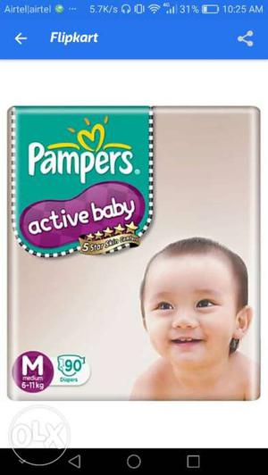 Pampers M size pack of 90 at very low price for