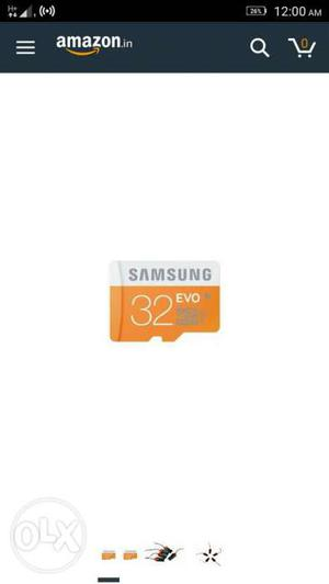 Samsung 32 gb memory card only 2 month old