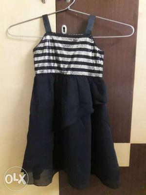 Unused brandedGirl's Black Sleeveless Dress till 2 yrs