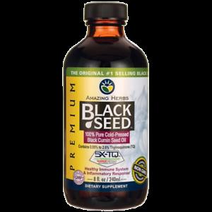 Amazing Herbs Black Seed 100% Pure Cold-Pressed Black 8 fl