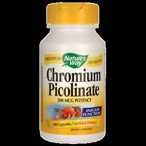 Natures Way Chromium Picolinate 200 mcg 100 Caps