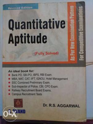 R S Aggarwal Quantitative Aptitude PDF E-Book 2019 Download