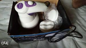 White And Purple Portable Massager