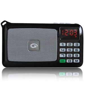 AMKETTE POCKET FM RADIO +CLOCK +ALRAM +USB +MICRO SD CARD