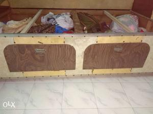 Box Bed of Heavy Wood With two Drawers. Very Very