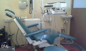 Gray And White Dental Chair