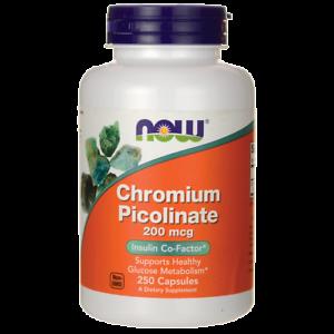 NOW Foods Chromium Picolinate 200 mcg 250 Caps