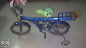 Toddler's Blue Bike With Training Wheels