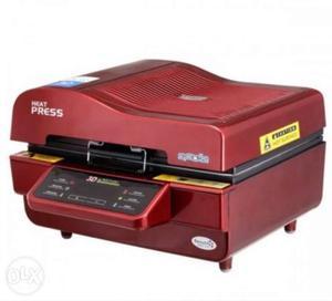 3D Sublimation heat press Mobile cover machine