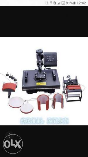 6 in 1 sublimation machine for plates, cap, Mug,