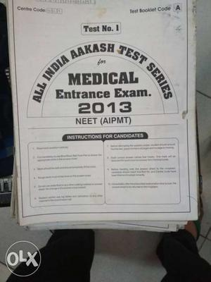 All Indian Aakash Test Series Medical Entrance Exam