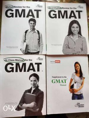 Princeton Review GMAT complete book set.
