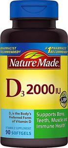 Nature Made Vitamin D IU - 90 Softgels